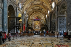 Inside St. John's in Valletta