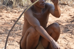 Kalahari - Bushmen Demonstarting Making an Animal Trap
