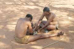 Kalahari Bushmen Making Fire