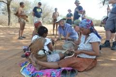 Kalahari - Having a go at Ostritch Egg Neclaces