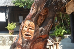 Carvings on the Tree at Kande Beach