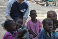 Matobo - Chris with the Children