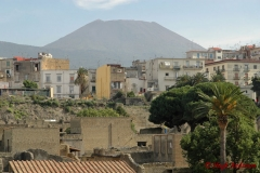 Herculanium dominated by Vesuvio