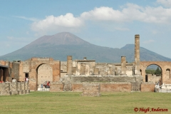 Pompeii overshadowed by Vesuvio