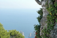 The view from th ehighest point on the Isle of Capri