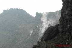 Vesuvio smoking crater