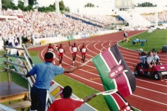 25 Kenya 400m relay team win Gold - final event of Auckland Commonwealth Games
