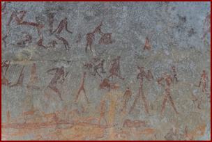 Bushman Cave Paintings in Matobo