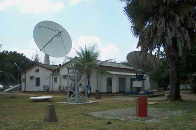 The ISG Earth Station at Malindi on the Kenyan coast.