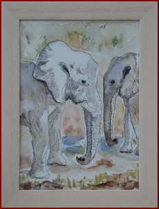 Etosha Elephants by Jackie