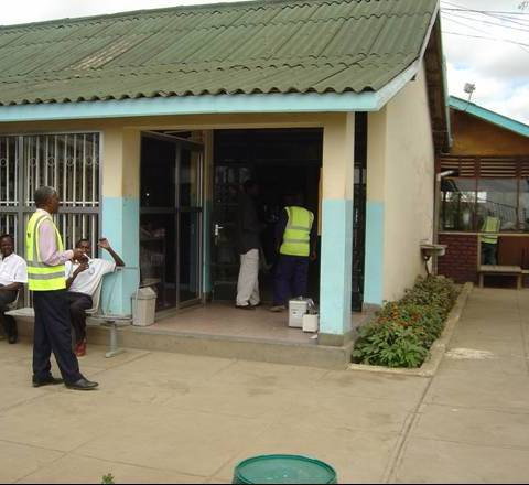 Calibration of the gravimeter against the known value of g at Arusha Airport