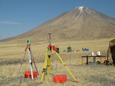 GPS Base Station at the camp at the base of Ol Doinyo Lengai.