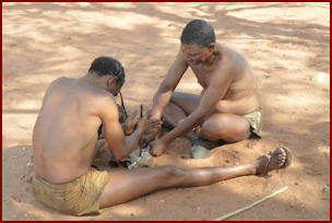 Kalahari Busmen Making Fire