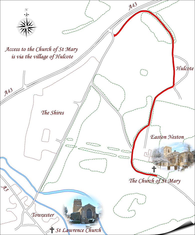 Map for The Church of St Mary