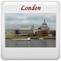 The River Thames London by St Paul's Cathedral