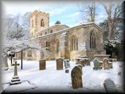 St Mary's Chiuch, Easton Neston, in the Snow