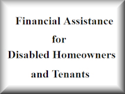 Financial Assistance for Disabled Homeowners and Tenants