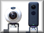 Samsung Gear 360 and Insta360 ONE X