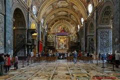 Inside St. John's in Valletta