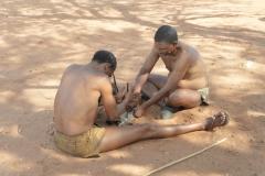 Kalahari Bushmen Making Fire