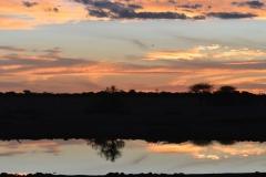 Etosha - Sunset Over The Okaukuejo Waterhole
