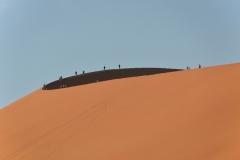 Sesriem - Walkers on Dune 45