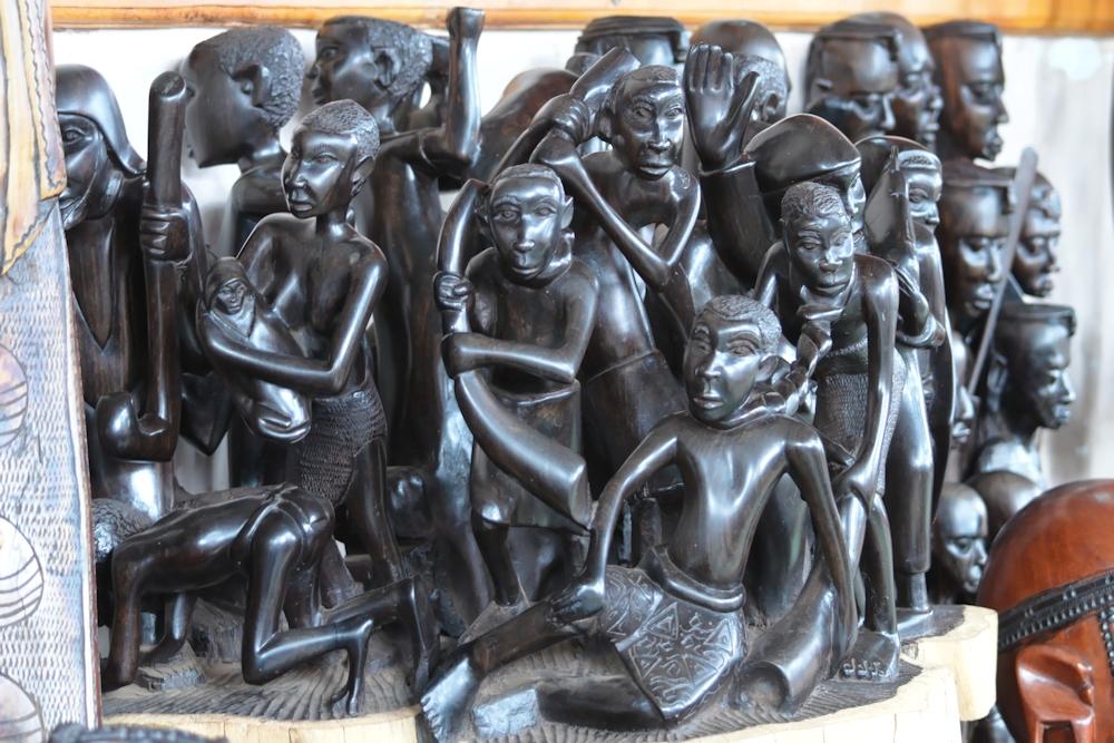 Wood Carving Depicting Slavery