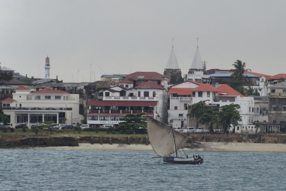 Zanzibar - from the Deoarting Ferry