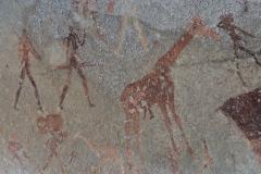 Matobo - Bushman Cave Painting - Giraffe