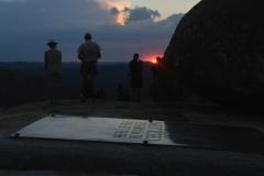 Matobo - Rhodes Grave at Sunset