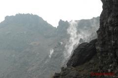 Vesuvio smoking crater